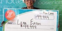 Vrouw van 91 wint tweemaal achter elkaar de Lotto